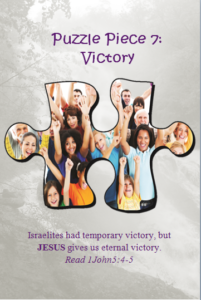 Bible Puzzle Piece 7 Jesus gives us eternal victory